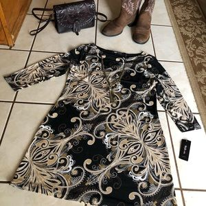 NWT Style & Co. M Career Long Sleeve Shift Dress